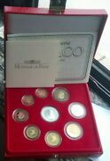 Monaco 2004 Official Euro Mint Set Of 9 Coins,with Silver Coin,rare