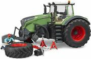 Bruder New 116 Toy Fendt 1050 Vario With Mechanic And Garage Equipment Bdr04041