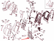 Mb C W204 Front Left Seat Lumbar Support Adjustable Lhd A0009105102 New Genuine