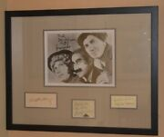 Marx Brothers - Matted And Framed Autograph Display - Groucho Chico Harpo Zeppo