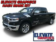 Fits Ram 1500 Side Hash Mark Stripes Dodge Decals Double Bar Graphics For 00-20