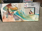 Mid Century Abstract Modern Art 3d Painting Harlequins Wall Sculpture