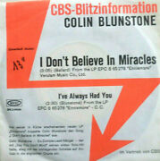 7 1972 German Cbs Promo Mint- Colin Blunstone I Don´t Believe In Miracles