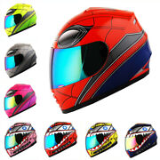 Wow Dot Motorcycle Youth Full Face Helmet Kids Bike Spider Black Green Pink Red