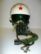 Fl-4 1980and039s Chinese Flight Helmet With Mask Ir26t