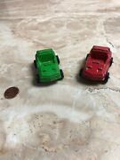 2 Vintage Tootsietoy Cars Red And Green Toys