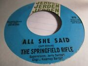 Springfield Rifle Thatand039s All I Really Need / I Love Her 45 Vg+ 2nd Press Zu26
