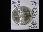 1986 Double Die Mexico Libertad Gem Uncirculated See Blowup Photos