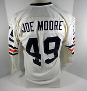 1971-73 Chicago Bears Joe Moore 49 Game Used White Jersey