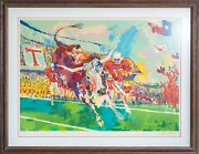 Leroy Neiman Texas Longhorns Ap 2/80 Limited Edition Signed By Artist