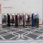 Limited Dr. Pepper Spiderman Far From Home Empty 12oz Aluminum Soda Pop 5 Cans
