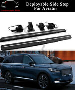 Deployable Running Board Fits For Lincoln Aviator 2020 Side Step Nerf Bar