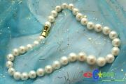 P961 Aaa Huge 17 14mm White Round Freshwater Pearl Necklace Magnet