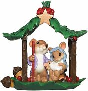 New Charming Tails Mouse Figurine Holy Family Mice Holiday Christmas Nativity