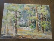 Signed Original Watercolors By Peg Humphreys, Into The Forest 16 X 22 Abstract