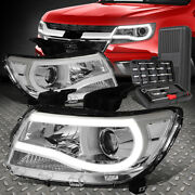 For 15-20 Chevy Colorado 3d Led Drl Chrome/clear Projector Headlights+tool Set