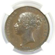 1841 Great Britain One Penny Coin Au Ddo Without Colon Ngc Attribution Error