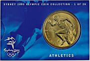 2000 Australia Sydney Olympic Collection Medals 5 Dollar Coin Athletics 1 Of 28