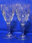 2 Vintage Baccarat Auteuil Tall Water Goblets 7 3/8 Guc