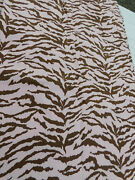 Custom From Waverly Fabric-tarzan Pink And Brown Shower Curtain And Valance-camo