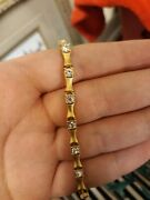 Dangly Bracelet Costume Fake Gold With Fake Diamond Detailing High Quality