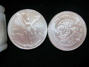 Mexico 1993 Onza Scarce Date Libertad Lot Of 3 Coins Choice Bu .999 Silver