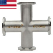Kf-25 Nw-25 Cross Vacuum Fitting Ss304 Stainless Loco Science