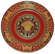 Rosenthal Versace Medusa Red 12 Pieces Service Plate Charger 12 30cm