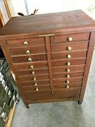 Antique Mahogany National Cash Register Stand, Base Brass Name Tag 1181
