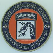 Us Army Xviii Airborne Corps Asst Chief Of Staff G-6 Challenge Coin Gh