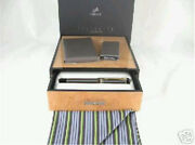 Parker Duofold Centennial Fountain Pen Special Edition Pinstripe Chocolate New