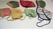 7 Vintage Baby Hats Bonnets Or For Old Dolls 1940s Assorted Sizes , Materials