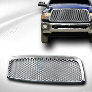 Fits 09-12 Dodge Ram 1500 Chrome Mesh Front Hood Bumper Grill Grille Guard Abs