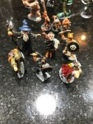 Vintage Party Of 6 Characters 1970s/80s Lead Figure Miniature Painted Wow
