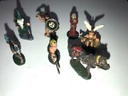 Vintage Party Of 6 Characters And Horse 70s/80s Lead Figure Miniature Painted Wow