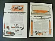 1920and039s Parker Duofold Fountain Pens And Desk Set Ads