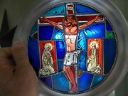 Easter Fine Art Plate Vintage 1976 Franklin Mint 10 1/4 Stained Glass Pre Owned