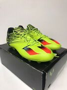 Authentic Adidas Lionel Messsi 15.2 Fg Soccer Cleats Boots 11.5 Solar Grn S74688