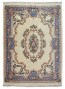 Rra 9x12 8'6x11'8 Chinese Aubusson Design Ivory And Blue Rug 29456