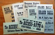 9 Rare Antique Assorted Event Sale And Advertising Signs Posters Access Auto Co.