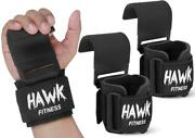 Weight Lifting Hooks Grips With Wrist Wraps Straps Powerlifting Weightlifting