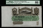 Tt Pk S231r 1860 South Africa 5 Pounds Montagu Bank Pmg 66 Epq 160 Years Old
