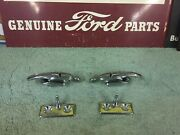 1955 1956 Ford Convertible Top Latches 2 And Locating Pins 2 Oem