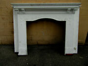 Antique Carved Oak Fireplace Mantel 41 Opening Architectural Salvage