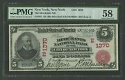 Fr587 1370 5 1902 Red Seal Of New York Pmg 58 Choice About Unc 541p Dfp 4/2