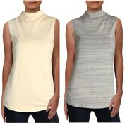 Nic + Zoe Womenand039s Perfect Mock Neck Career Wear Tank Top - Msrp 68.00