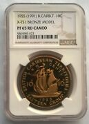 East Caribbean 1955 Eastern Group Ngc Pf65 10 Cents Bronze Model Coin,rare