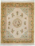 Rra 8x10 Chinese Peking Design Ivory And Gold Rug 17918