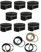 Chevy/pontiac Ls 6.0l Flat Top Pistons W/ Rings For 2002-2008 Chevrolet 4.030
