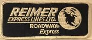 Reimer Express Lines Roadway Express Trucking Co. Embroidered Patchworld Globe